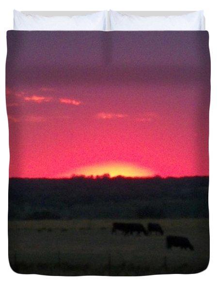 Okie Sunset Duvet Cover