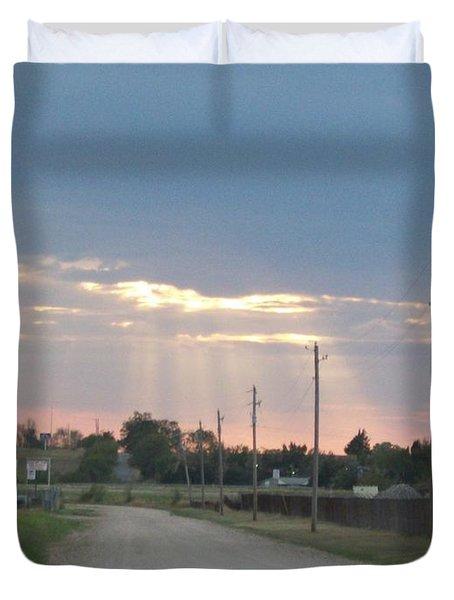 Oklahoma Beamer Duvet Cover