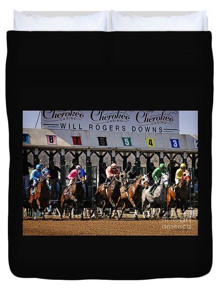 Oklahoma Horse Racing Duvet Cover