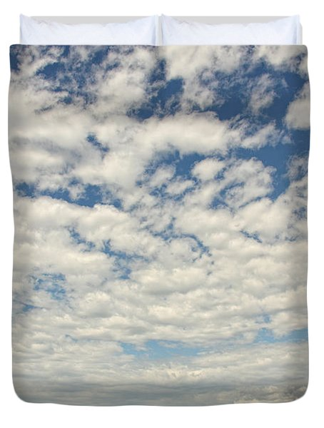 Old Abandoned Red Barn In The Midst Duvet Cover by Robert Postma