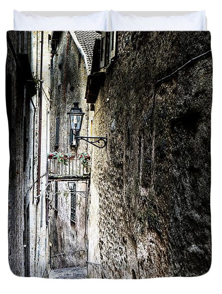 old alley in Italy Duvet Cover by Joana Kruse