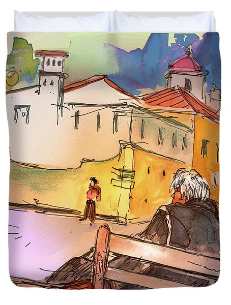 Old And Lonely In Portugal 07 Duvet Cover by Miki De Goodaboom