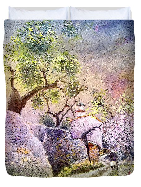 Old And Lonely In Spain 06 Duvet Cover by Miki De Goodaboom