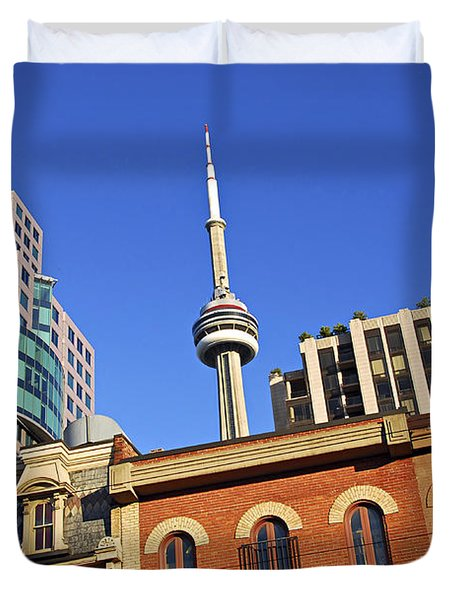Old And New Toronto Duvet Cover by Elena Elisseeva