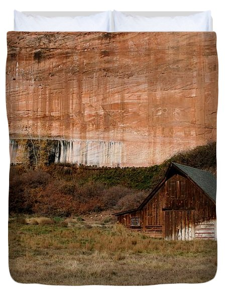 Old Barn In Angel Canyon #1  Duvet Cover by Nola Lee Kelsey