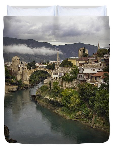 Old Bridge Of Mostar Duvet Cover