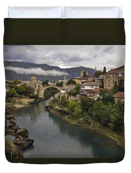 Old Bridge Of Mostar Duvet Cover by Ayhan Altun