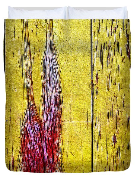 Old Brooms Duvet Cover by Judi Bagwell