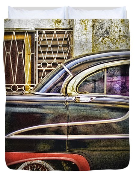 Old Car 2 Duvet Cover by Mauro Celotti