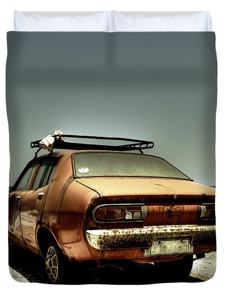 Old Car Duvet Cover by Joana Kruse