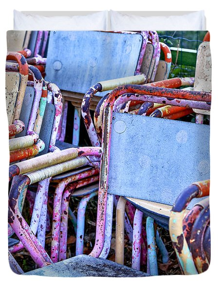 Old Chairs Duvet Cover by Joana Kruse