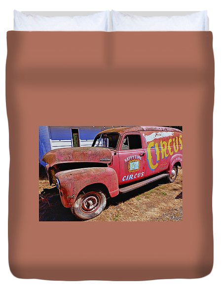 Old Circus Truck Duvet Cover