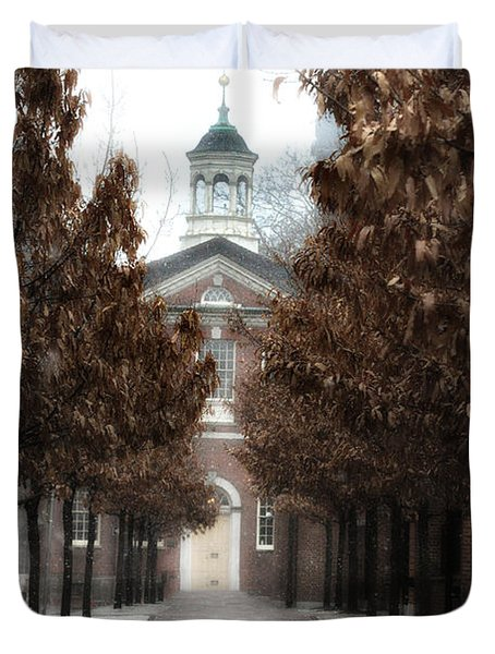 Old City Hall Philadelphia Duvet Cover by Bill Cannon