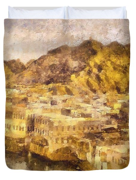 Old City Of Muscat Duvet Cover