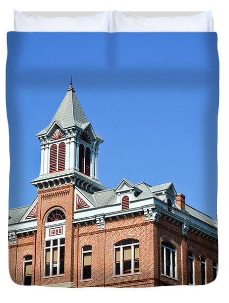 Old Courthouse Powhatan Arkansas 1 Duvet Cover by Douglas Barnett