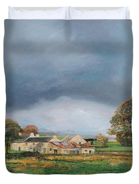 Old Farm - Monyash - Derbyshire Duvet Cover by Trevor Neal
