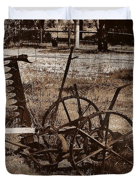 Duvet Cover featuring the photograph Old Farm Equipment by Blair Stuart