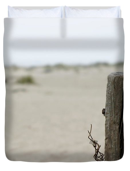 Old Fence Pole Duvet Cover