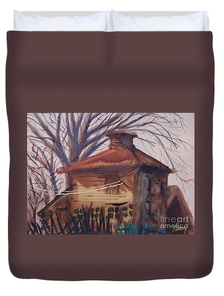 Old Garage Duvet Cover