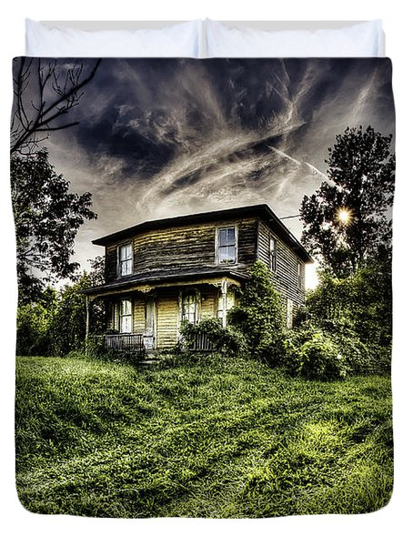Old House Duvet Cover by Nick  Shirghio