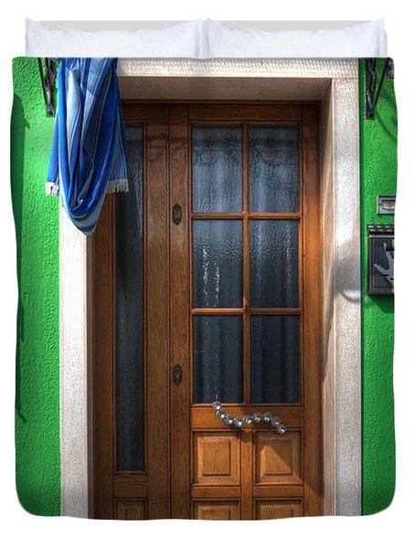 Old Italian Door Duvet Cover by Joana Kruse