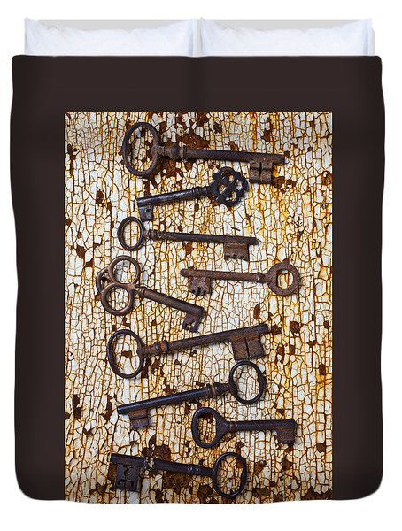 Old Keys Duvet Cover by Garry Gay