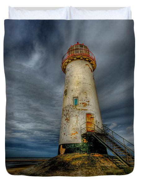 Old Lighthouse Duvet Cover by Adrian Evans