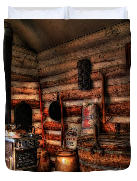 Old Log Cabin Duvet Cover