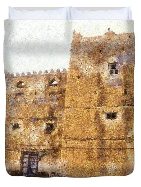 Old Mansion In Mirbat Duvet Cover