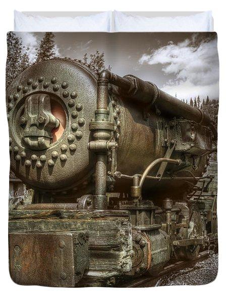 Old Mine Train Banff Duvet Cover