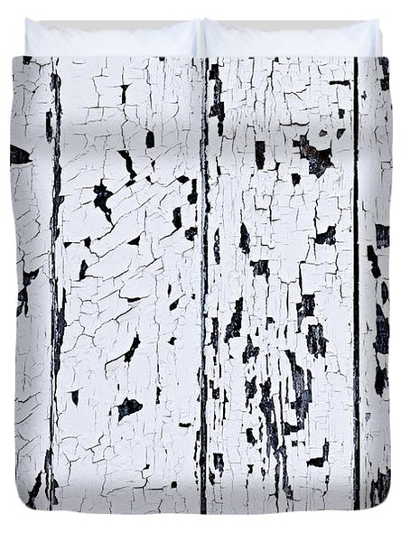 Old Painted Wood Abstract Duvet Cover by Elena Elisseeva