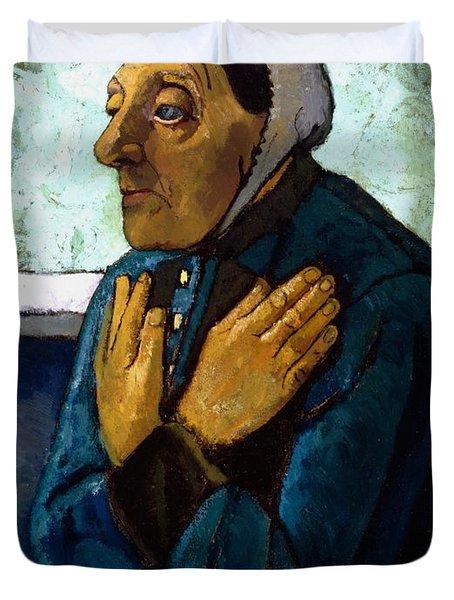 Old Peasant Woman Duvet Cover by Paula Modersohn-Becker