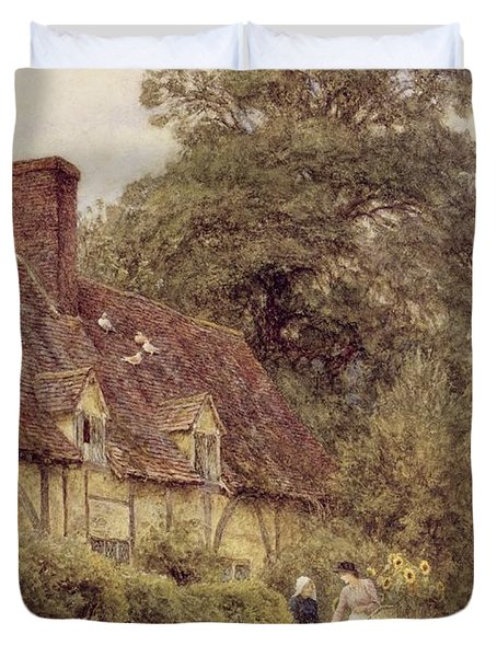 Old Post Office Brook Near Witley Surrey Duvet Cover