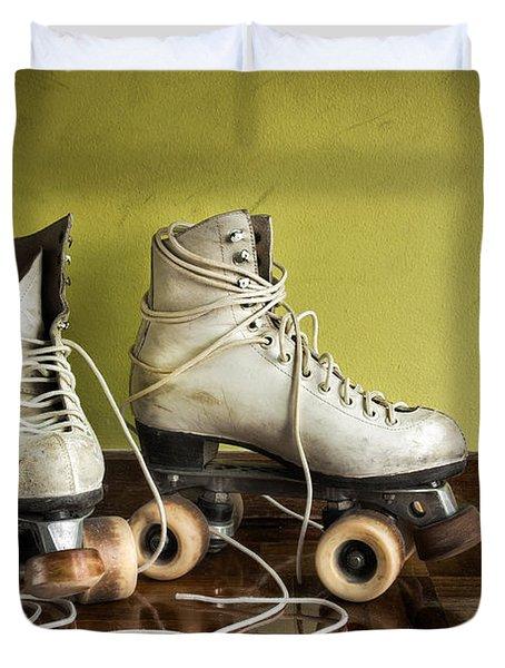 Old Roller-skates Duvet Cover