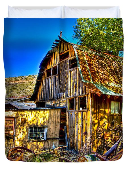 Old Shed Duvet Cover by Jon Berghoff