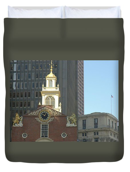 Old South Meeting House Duvet Cover by Bruce Carpenter