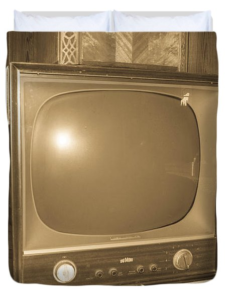 Old Television Duvet Cover by Shannon Harrington