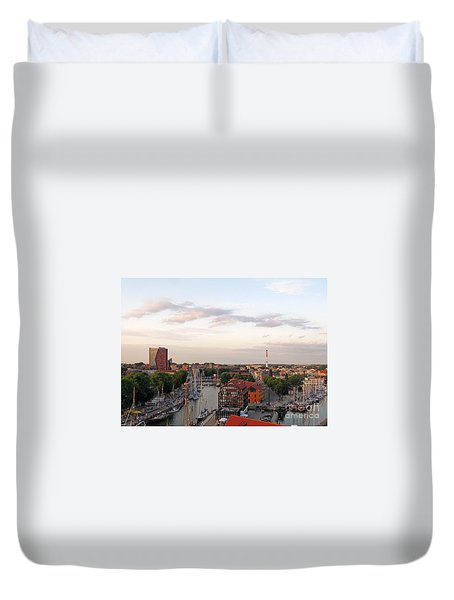 Old Town Klaipeda. Lithuania. Duvet Cover