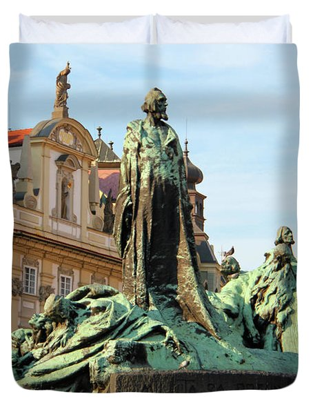 Old Town Square Duvet Cover by Mariola Bitner