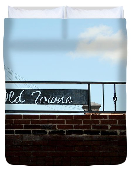 Old Towne Sign Duvet Cover