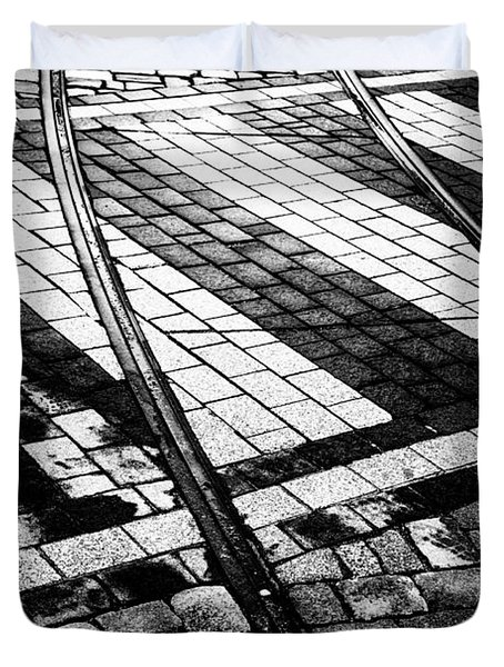 Old Tracks Made New Duvet Cover by Hakon Soreide