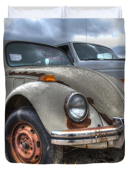 Old Vw Beetle Duvet Cover