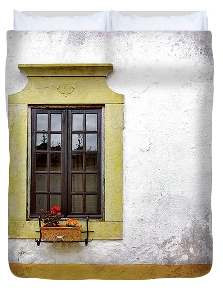 Old Window Duvet Cover by Carlos Caetano