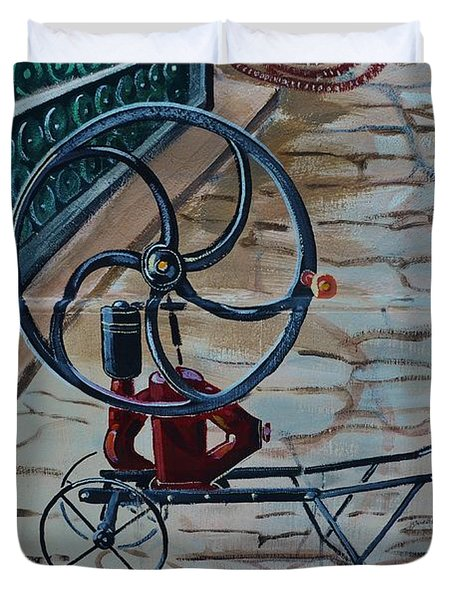 Old Wine Pump Duvet Cover by Dany Lison