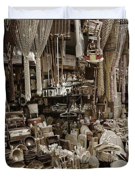 Old World Market Duvet Cover by Joan Carroll