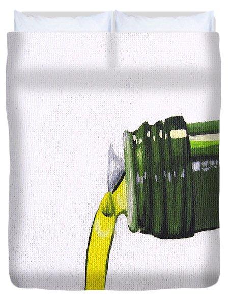 Olive Oil Duvet Cover by Kayleigh Semeniuk