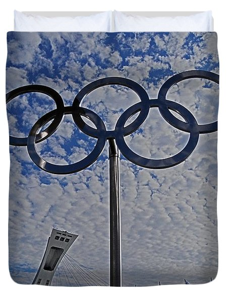 Olympic Stadium Montreal Duvet Cover