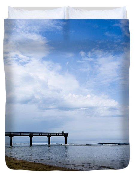Omaha Beach Duvet Cover