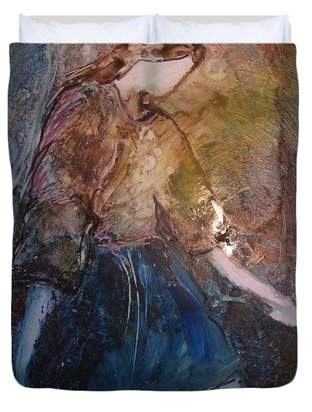 Duvet Cover featuring the painting Amazing Grace by Deborah Nell