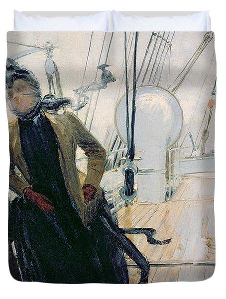 On Deck Duvet Cover by Louis Anet Sabatier